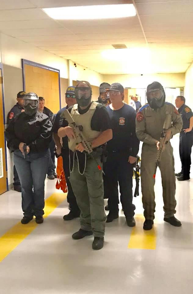 Attendees of the Active Shooter Training Class