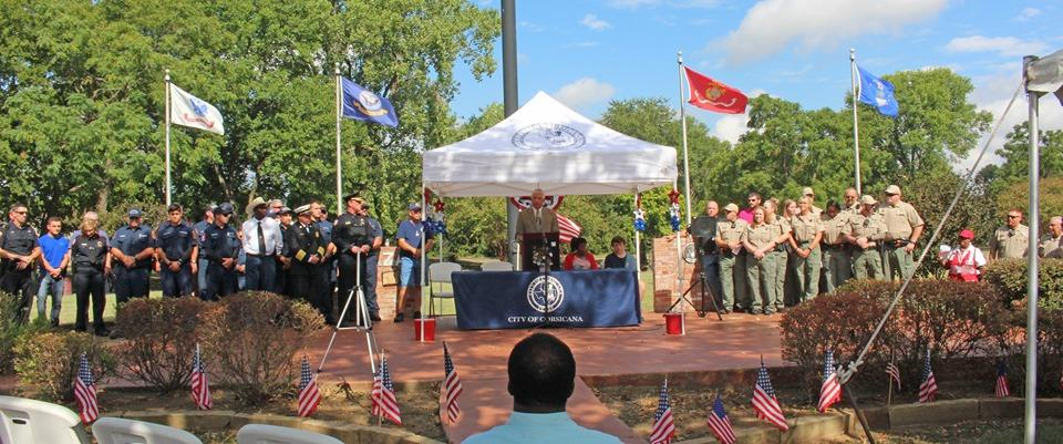 16th Annual Patriot Day Program on the Freedom Flag Plaza at Bunert Park in Corsicana s