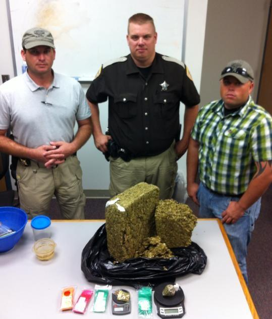 Navarro County Sheriff's Officers after a drug bust
