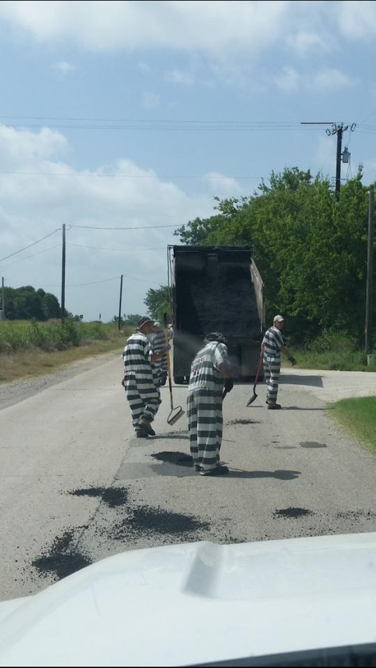 Inmates Repair Roads