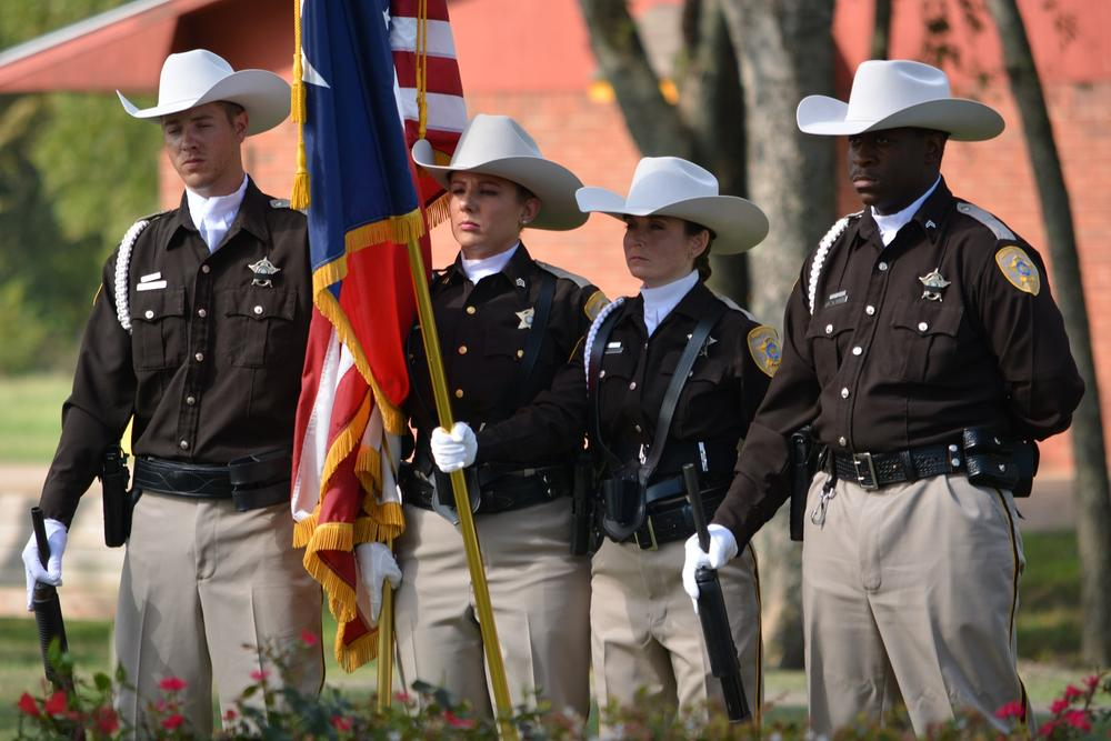 Navarro County Officers participate in Patriot's Day Ceremony at Bunert Park
