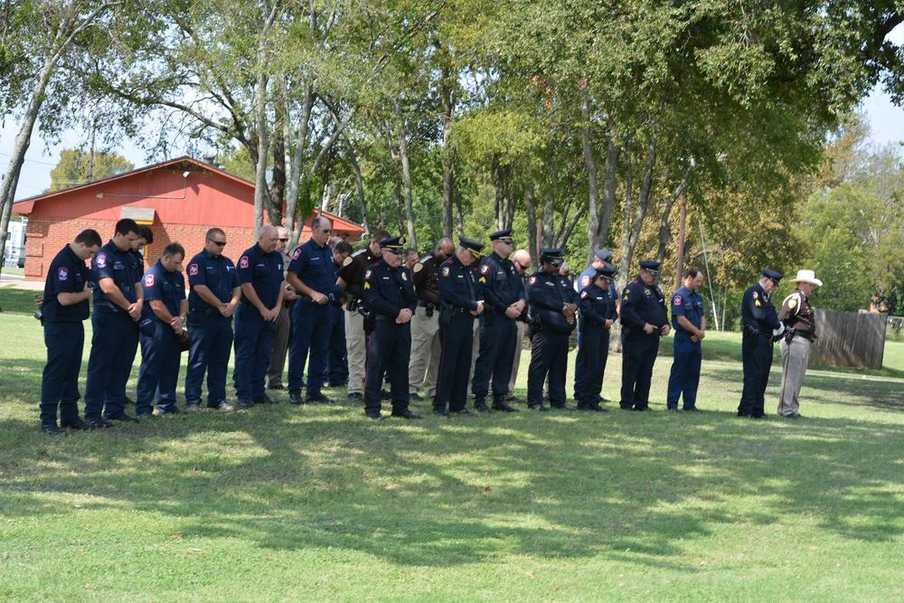 Navarro County Officers stand together