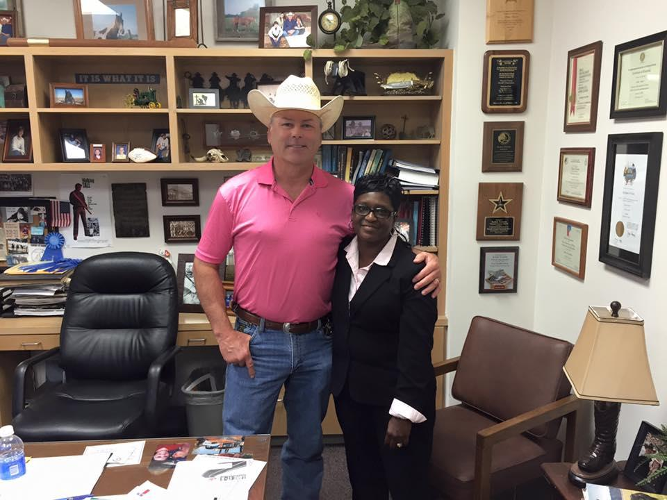 Sharon Williams being welcome back to NCSO
