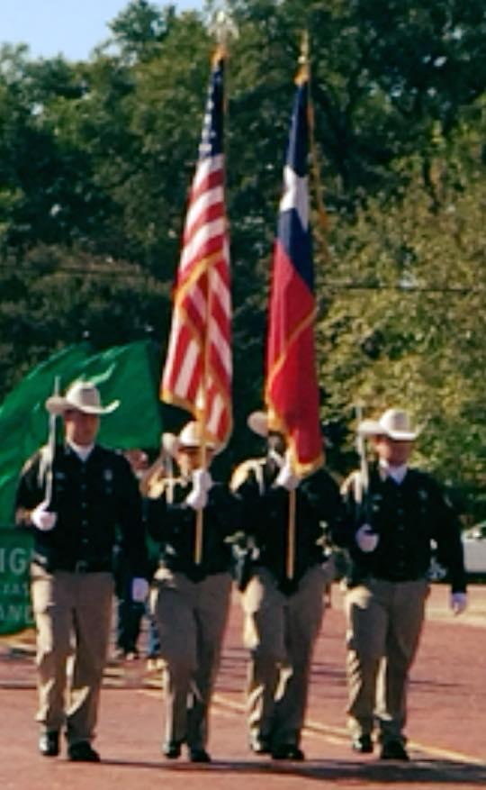 NCSO Color Guard proudly participating in the annual Kerens Homecoming Parade