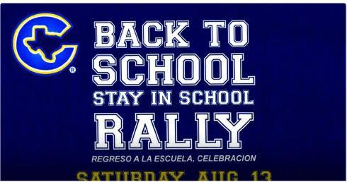 Back to school rally August 13